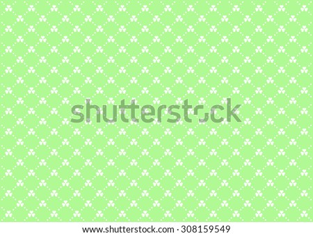 Clovers Vector Background Pattern