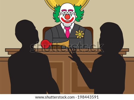 Clown Judge - stock vector