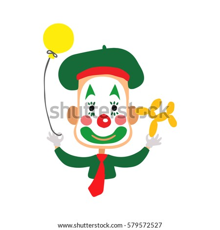 clown vector characters isolated on white stock vector royalty free