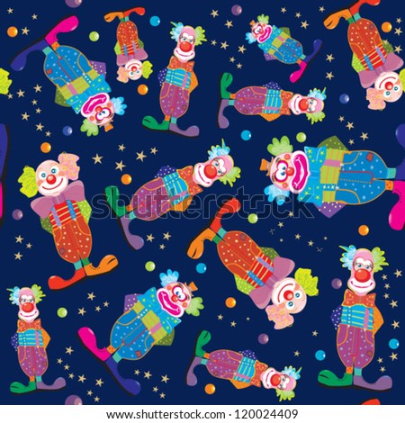 clowns pattern vector - stock vector