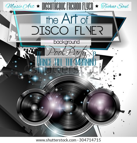 Club Disco Flyer Set with LOW POLY DJs and Colorful Scalable backgrounds. A lot of diffente style flyer for your techno, hip hop, electro or metal music event Posters and advertising printed material. - stock vector