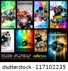 Club Flyers ultimate collection - High quality abstract full editable template designs for music posters or disco flyers. - stock photo