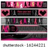 Club girls banners. To see similar, please VISIT MY GALLERY. - stock vector