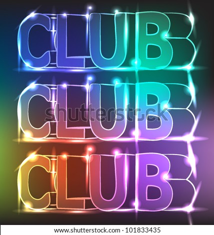 Club Neon Lights Stock Vector 101833435 - Shutterstock
