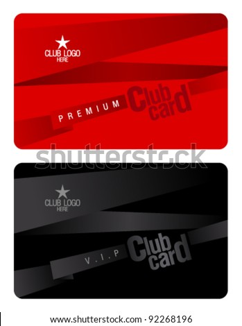 Club Plastic Card Design Template.  Membership Cards Templates