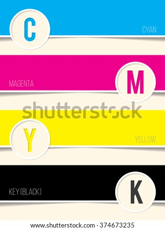 Cmyk background with copy space for every swatch - stock vector