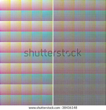 CMYK color chart by 10% steps. vector EPS is CMYK file with CMYK color values - stock vector