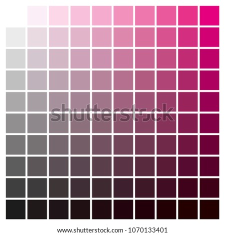 Cmyk Color Chart Use Prepress Printing Stock Photo Photo Vector