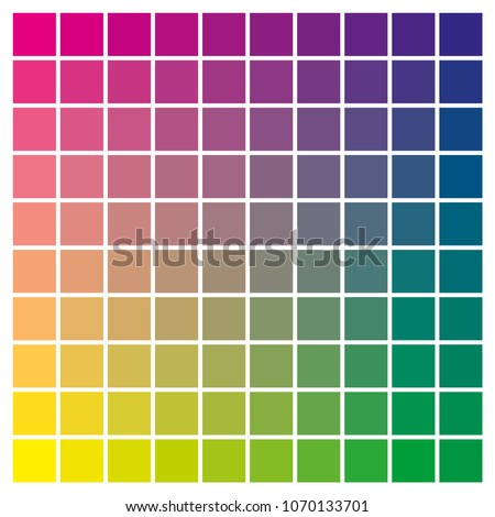 Cmyk Color Chart Use Prepress Printing Stock Vector