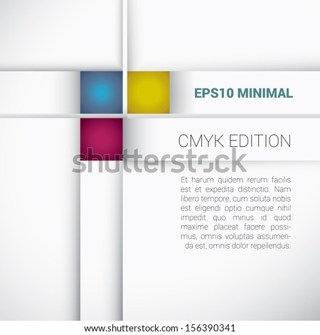 CMYK color concept edition of a minimal but colorful geometric abstract scalable and adjustable eps10 vector background design for universal use - stock vector