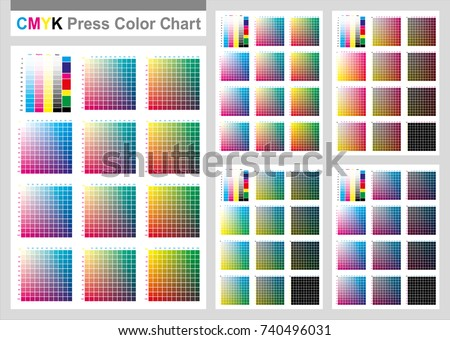 Cmyk Press Color Chart Vector Color Stock Vector