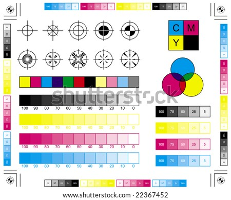 CMYK Press Marks - stock vector