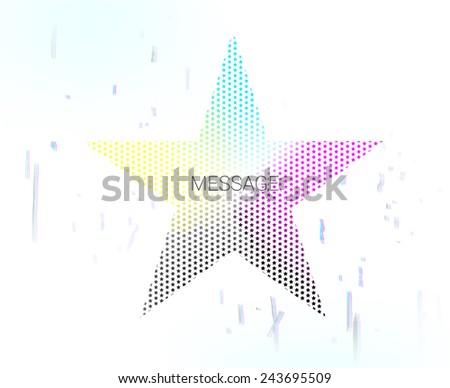 CMYK stars vector - stock vector