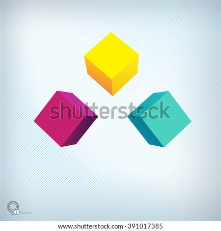 Cmyk- Turquoise Bright Place Holder Element for Your Advertisement - stock vector