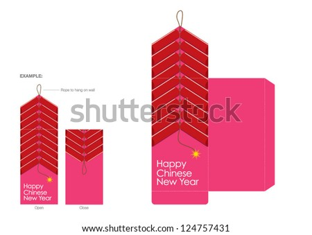 CNY festive packet design - stock vector