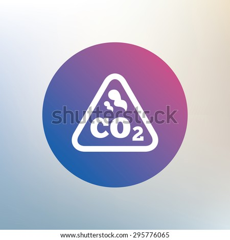 CO2 carbon dioxide formula sign icon. Chemistry symbol. Icon on blurred background. Vector - stock vector