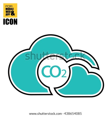 co2-cloud icon - stock vector