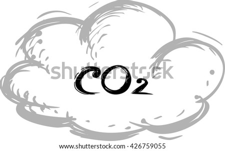 CO2 icon - stock vector