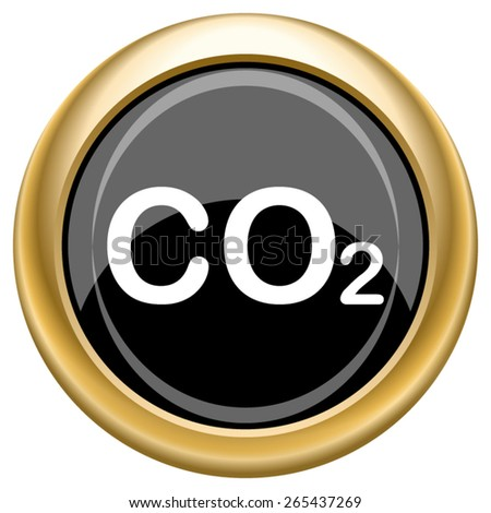 CO2 icon. Internet button on white  background. EPS10 Vector.  - stock vector