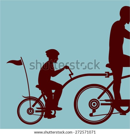 Co-pilot bicycle vector - stock vector