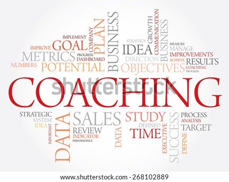 Coaching word cloud, business concept - stock vector