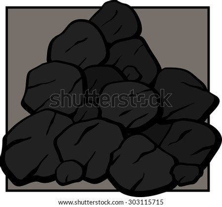 coal - stock vector