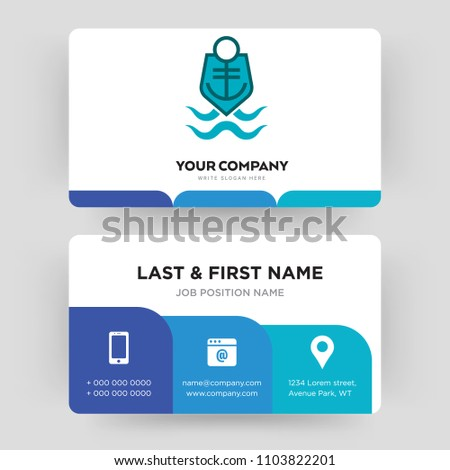 Coast guard business card design template stock vector 2018 coast guard business card design template visiting for your company modern creative and colourmoves