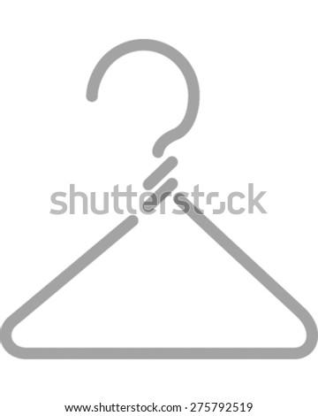 Coat Hanger - stock vector