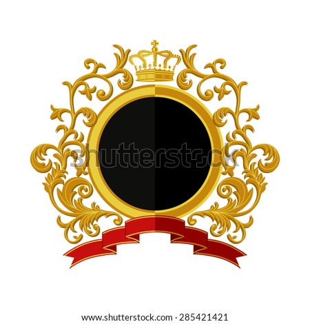 Coat of arms. Flat design. Vector illustration.  - stock vector
