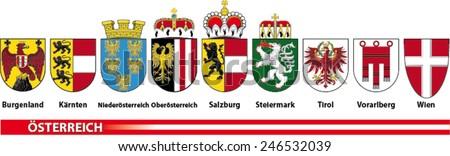 coat of arms of Austria - stock vector
