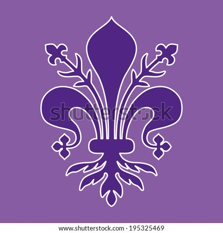 Coat of arms of Florence - Tuscany - stock vector