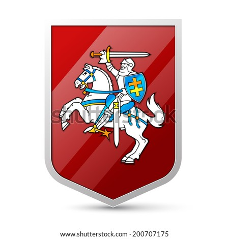 Coat of arms of Lithuania - stock vector