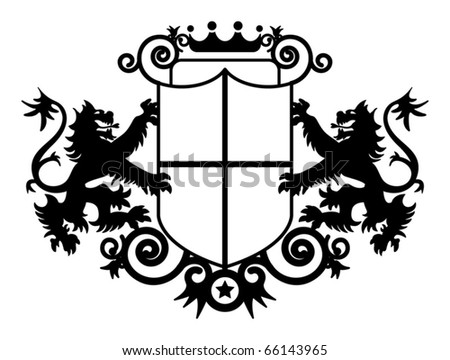 Coat of arms, vector illustration - stock vector
