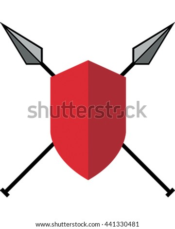 Coat of Arms Vector Illustration. Weapon Logo. - stock vector