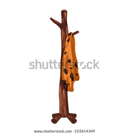Coat rack prehistoric isolated of illustration - stock vector