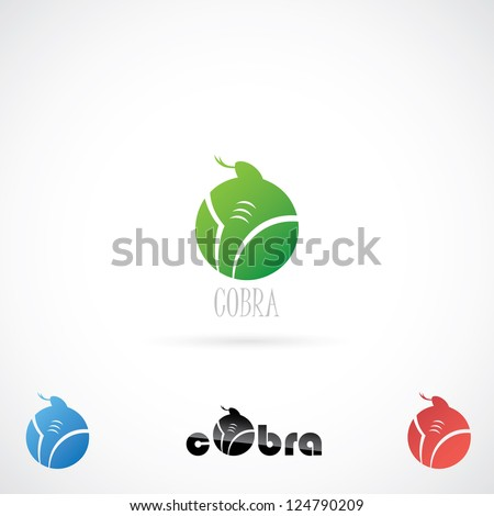 Cobra label - vector illustration - stock vector