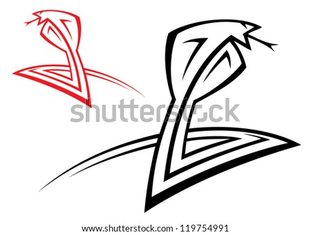 Cobra - vector illustration - stock vector