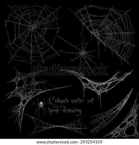 Cobweb set - stock vector