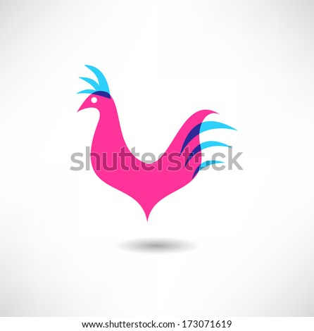 Cock icon - stock vector