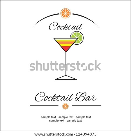 Cocktail bar - stock vector