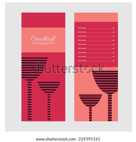 cocktail bar menu. vector - stock vector