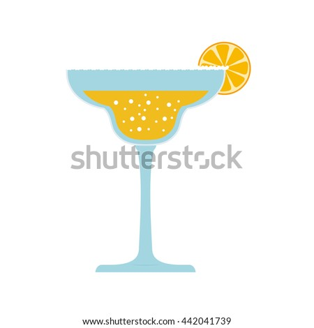 cocktail beverage. Drink design. Vector graphic