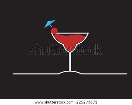 cocktail design menu background - stock vector