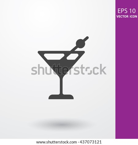 Cocktail drink flat icon