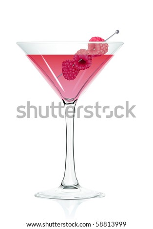 Cocktail glass Raspberry