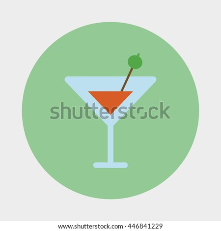Cocktail icon vector illustration