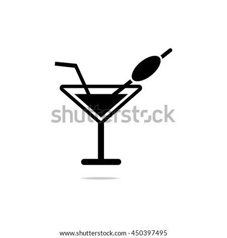 Cocktail Margarita or Martini. Vector icon