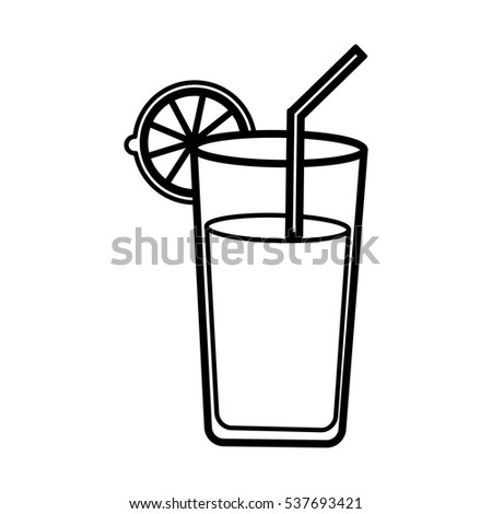 Juice Glass Icon Stock Vector 345902912 - Shutterstock