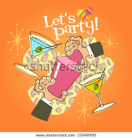 Cocktail party! - stock vector