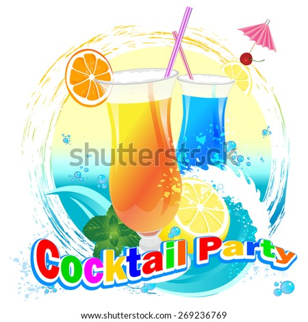 cocktail party - stock vector